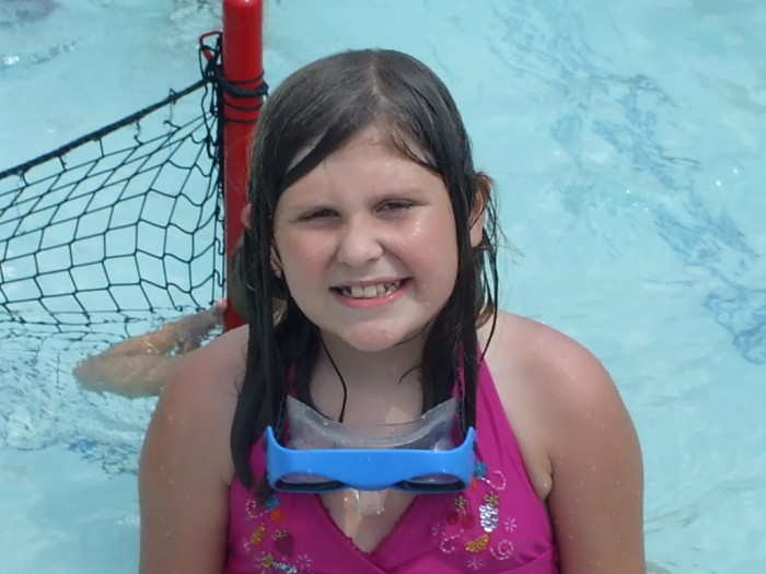 Kayla at the water park