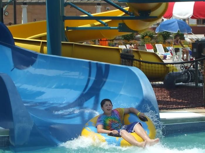 Robert enjoying the slides
