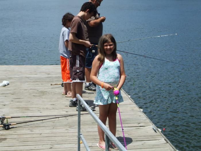 Kayla fishing