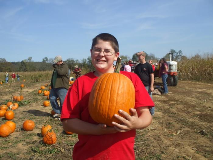Robert with his pumpkin
