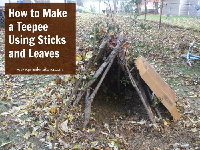 how to make a tepee