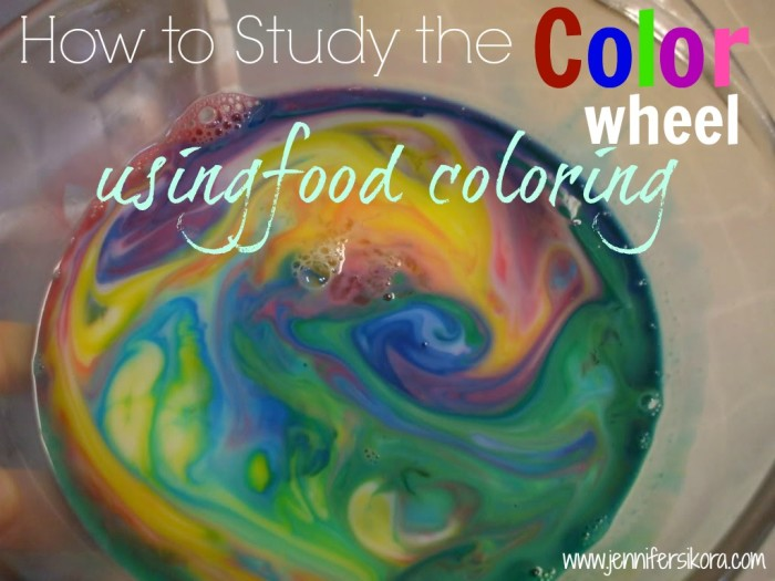 How to Study the Color Wheel Using Food Coloring