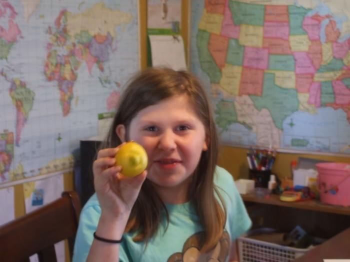 Kayla and her lemon