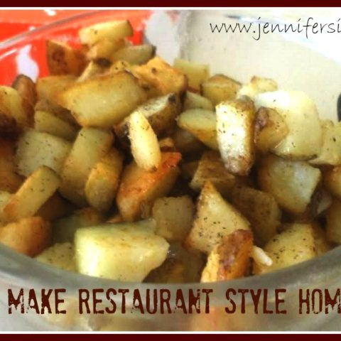 How to Make Restaurant Style Home Fries