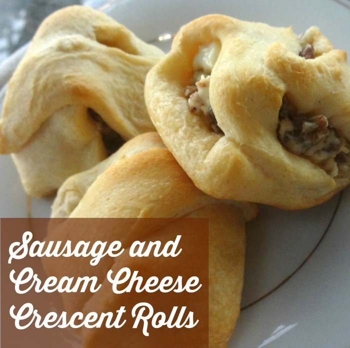 Sausage and Cream Cheese Crescent Rolls
