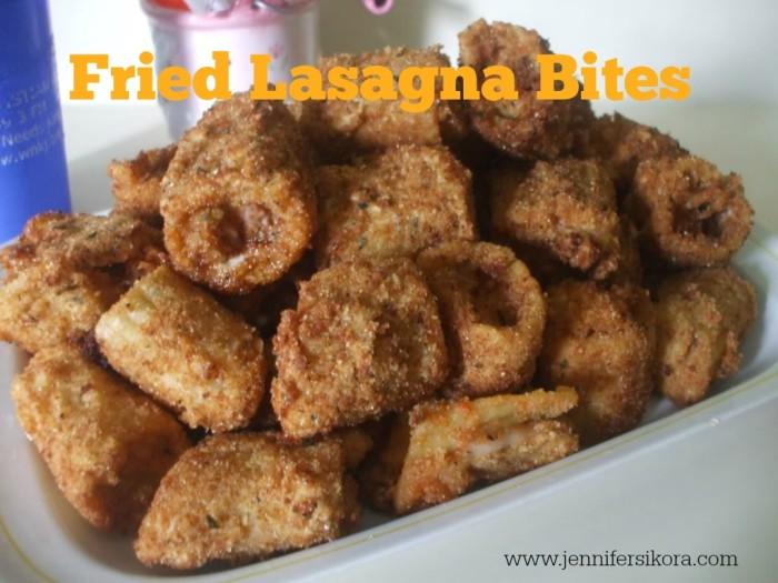 Fried Lasagna Bites