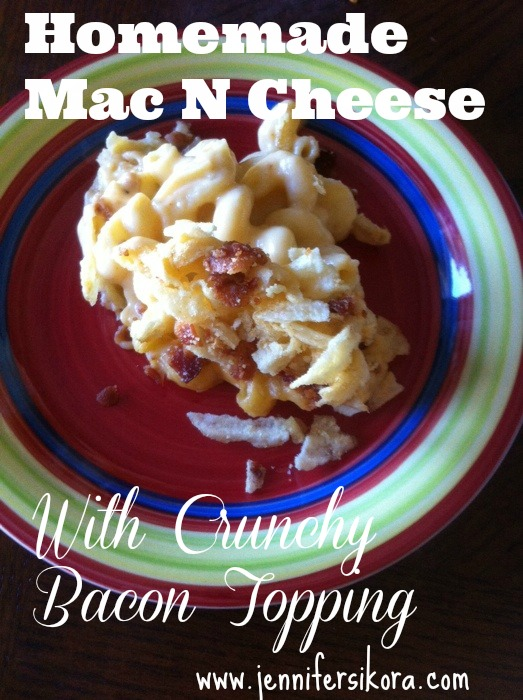 Mac and Cheese with Crunchy Bacon Topping