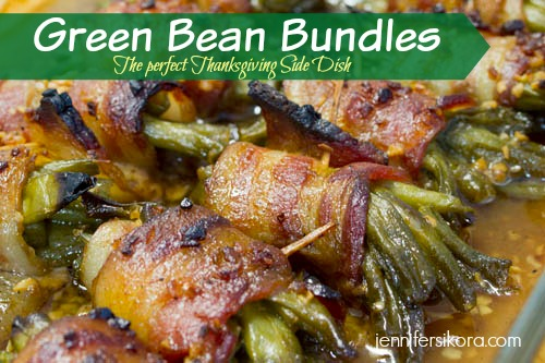 Green Bean Bundles for the Thanksgiving meal