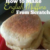 How to Make Homemade English Muffins