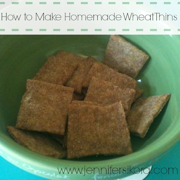 Yesterday I tried my hand at making homemade wheat thins. Oh. My ...