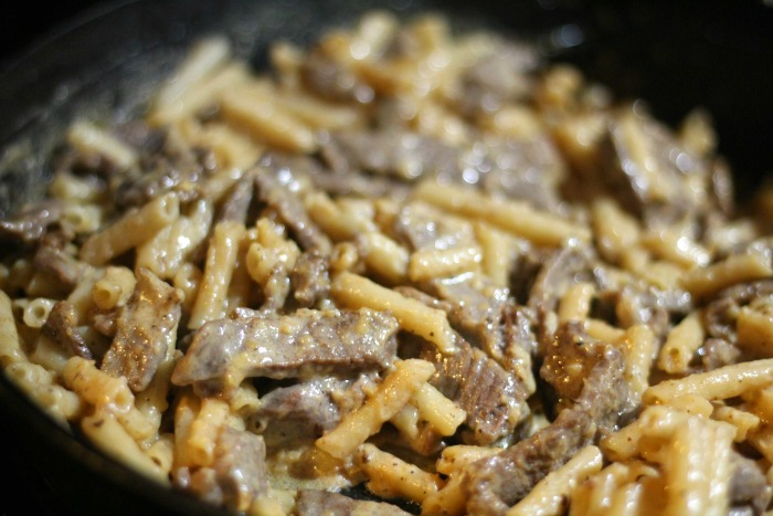 Grilled Steak Alfredo - a perfect 15 minute meal