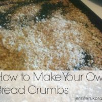 How to Make Your Own Bread Crumbs