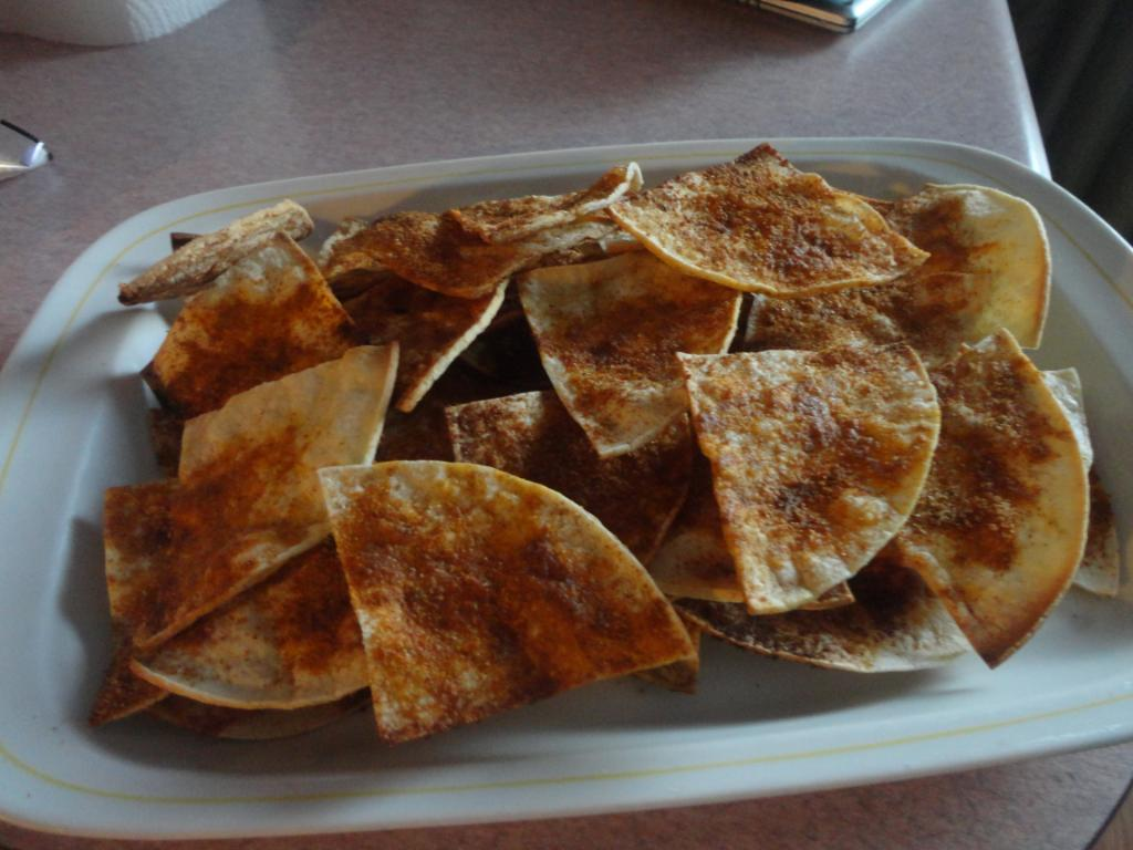 Spicy Homemade Tortilla Chips