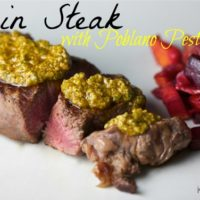 Sirlon Steak with Poblano Pesto from Food Network
