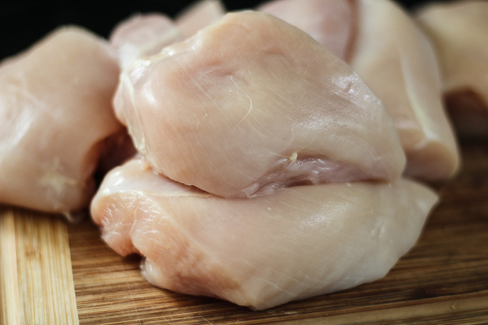 Preparing chicken breast