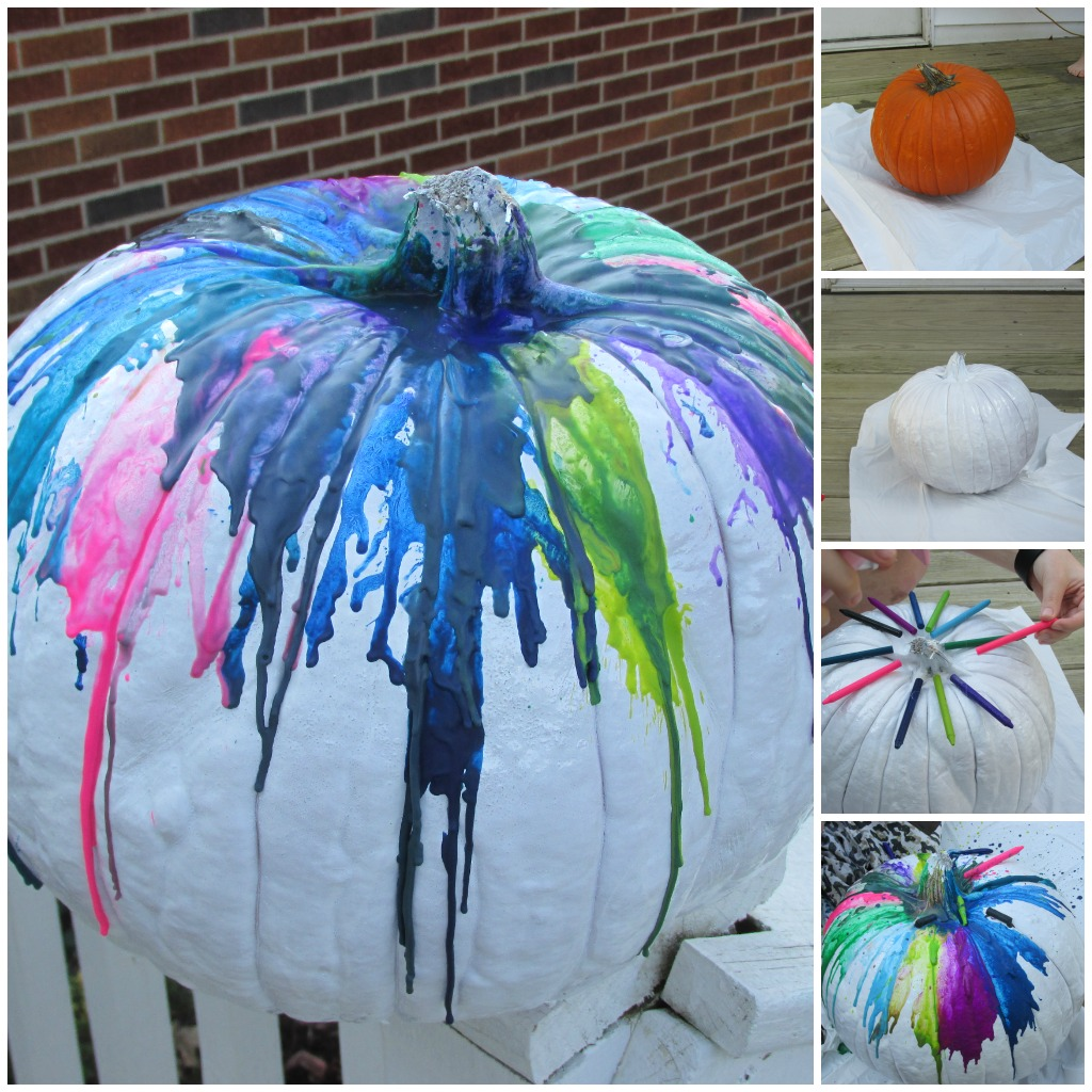 DIY Splatter Pumpkin