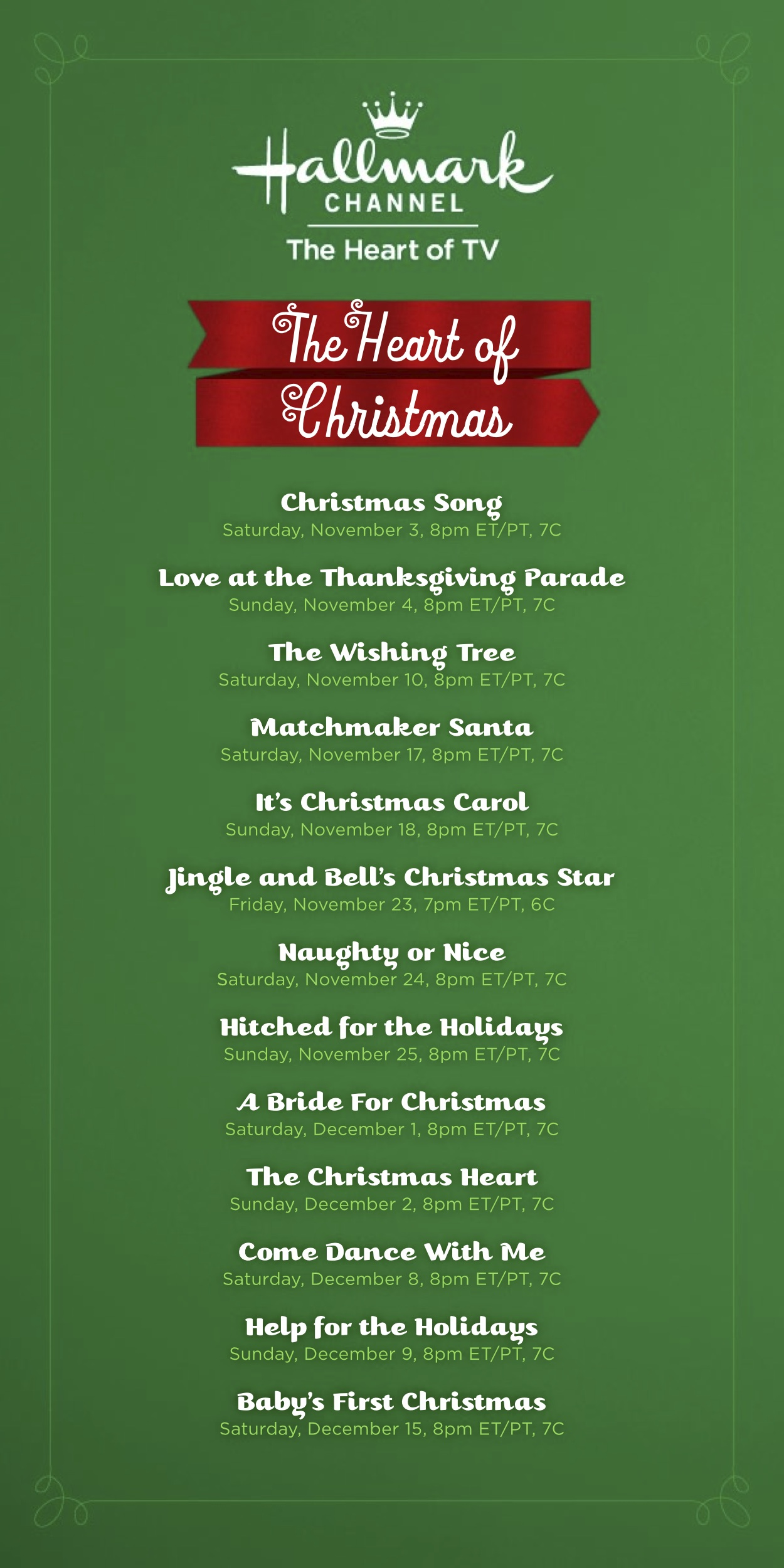 Grandco sandals february 2015 for Hallmark channel christmas movie schedule