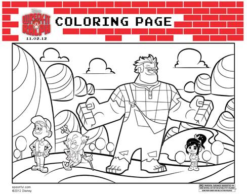 Wreck-It Ralph Coloring Sheets Now Available!