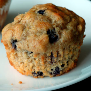 Blueberry Oatmeal Muffins made with Better Oats Blueberry Muffin Flavored Oatmeal