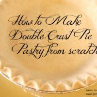 Double Crust Pie Pastry