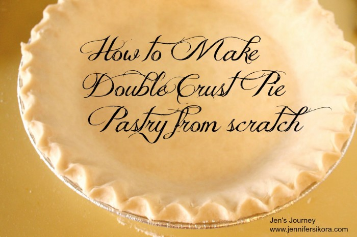 How to Make Double Crust Pie Pastry from Scratch
