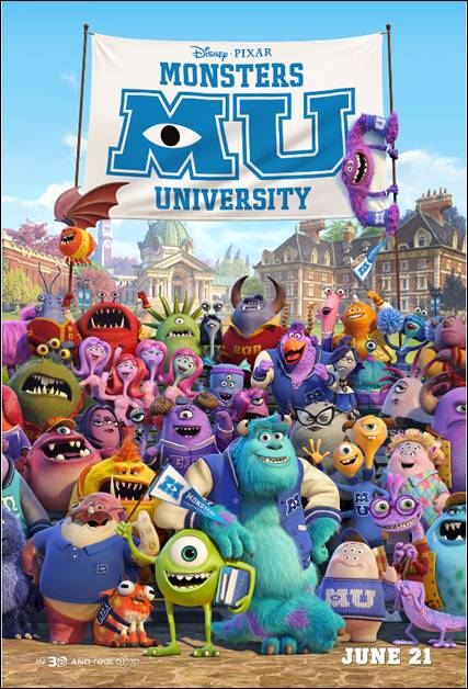 New Monsters University Poster Out