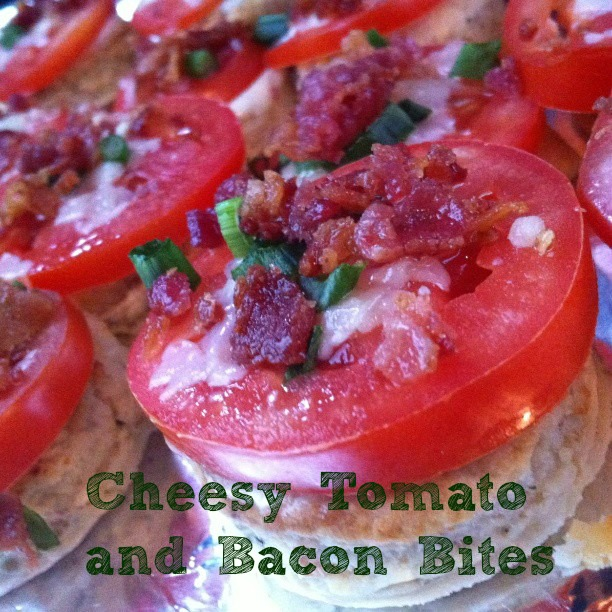 Cheesey Tomato and Bacon Bites