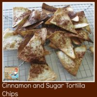 Cinnamon and Sugar Tortilla Chips