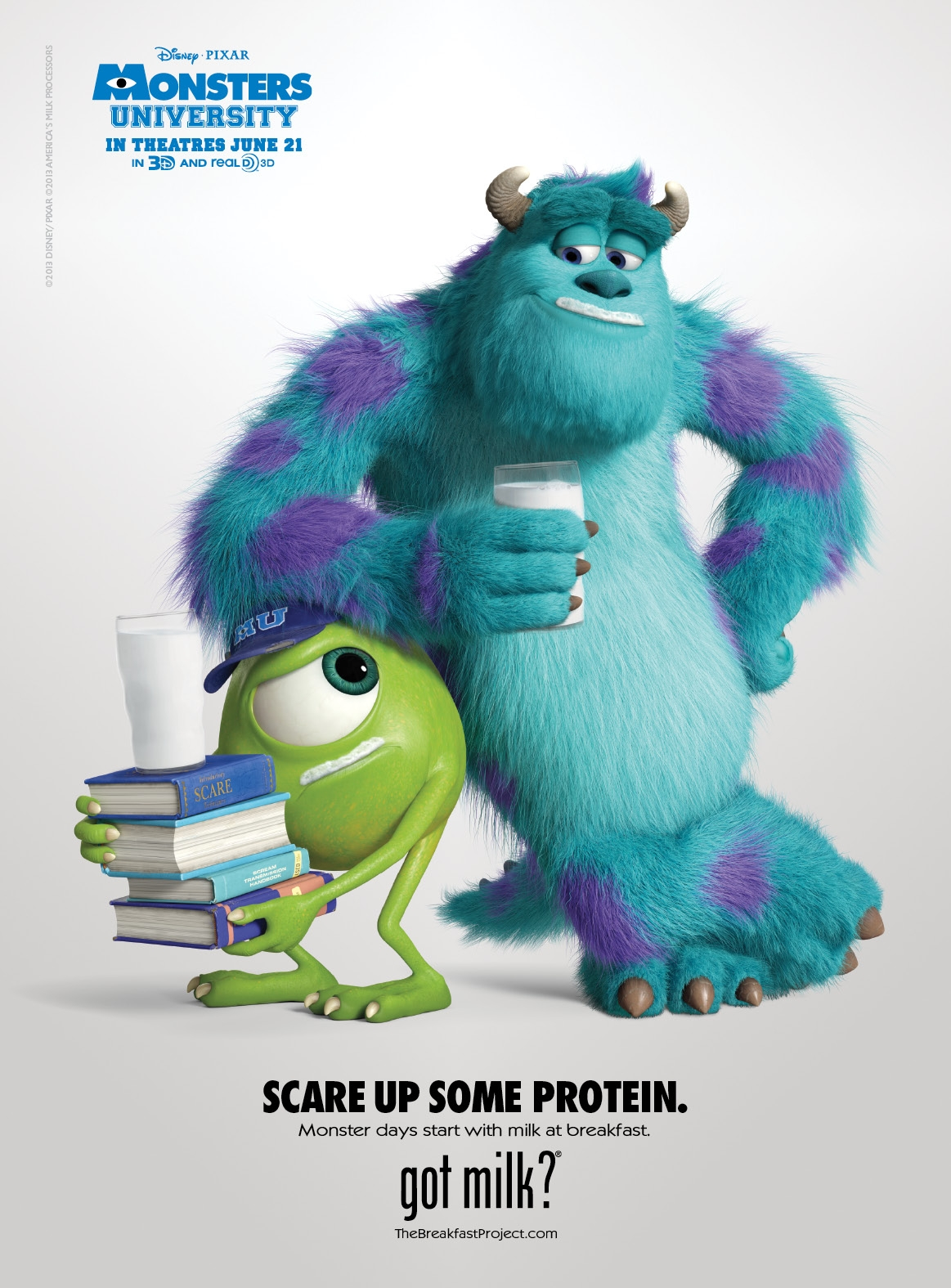 "Mike and Sulley Now Have a ""Got Milk"" Ad #monstersu"