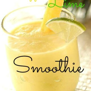 Pineapple, Coconut, and Lime Smoothie