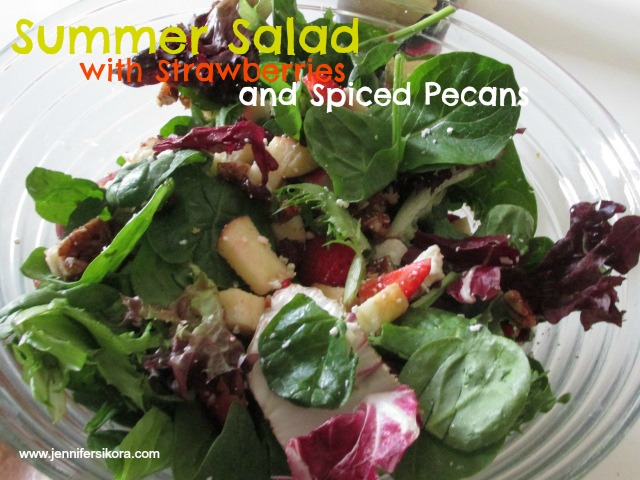 Summer Salad with Strawberries and Spiced Pecans