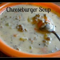 Cheeseburger Soup ~ Surprise Recipe Swap