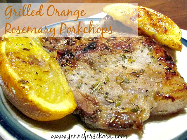 Grilled Orange Rosemary Porkchops