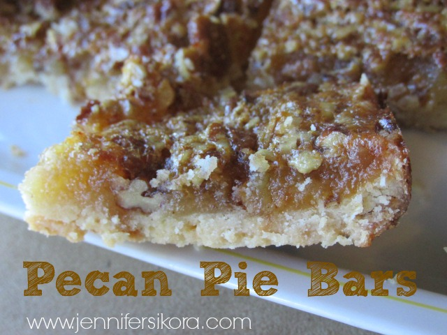 Pecan Pie Bars – Baking to Make a Difference