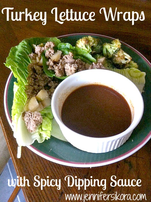Turkey Lettuce Wraps with Spcy Dipping Sauce