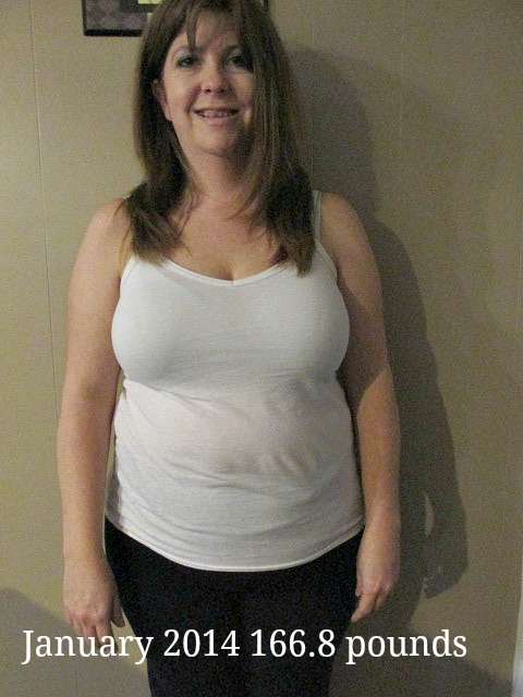 Losing weight 166.8 January 2014