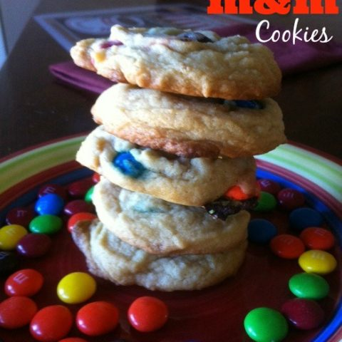 Old Fashioned M&M Cookies