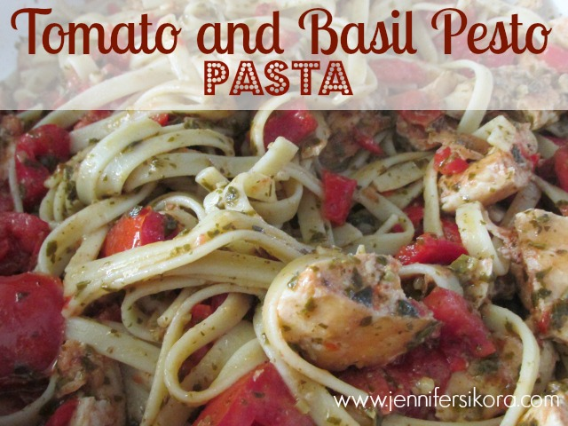 This recipe for Tomato and Basil Pesto is a delicious and yummy #15minutesuppers recipe that will make you forget all about the fast food drive in!