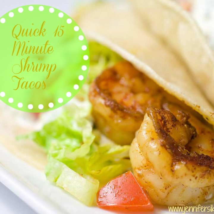 Quick and Easy 15 Minute Shrimp Tacos #15minutesuppers