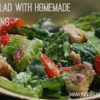 BLT Salad with Homemade Dressing - an SRC Recipe