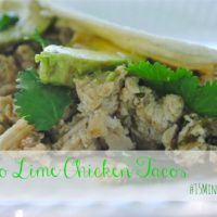 Cilantro Lime Chicken Tacos with Rice#15MinuteSuppers