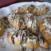 Chocolate Almond Butter Croissants #15minuteSuppers
