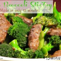 15 Minute Beef and Broccoli Stir Fry #15minutesuppers