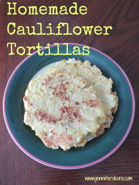 Homemade Cauliflower Tortillas