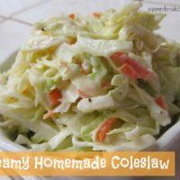 Homemade Creamy Coleslaw
