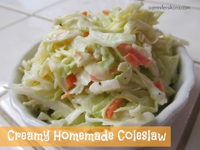 Creamy Homemade Coleslaw