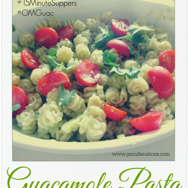 Guacamole Pasta #15MinuteSuppers