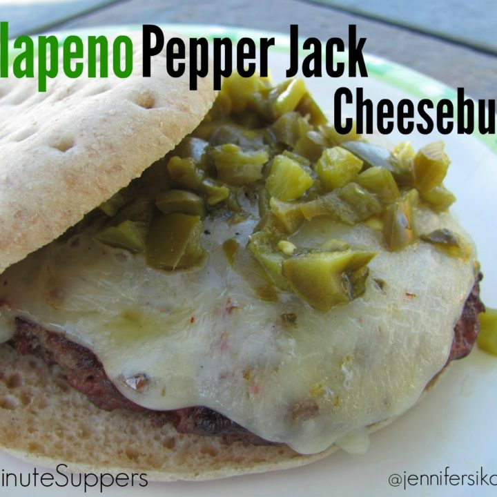 Jalapeno and Pepper Jack CheeseBurger #15minutesuppers