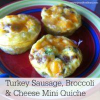 Sausage and Broccoli Mini Quiche