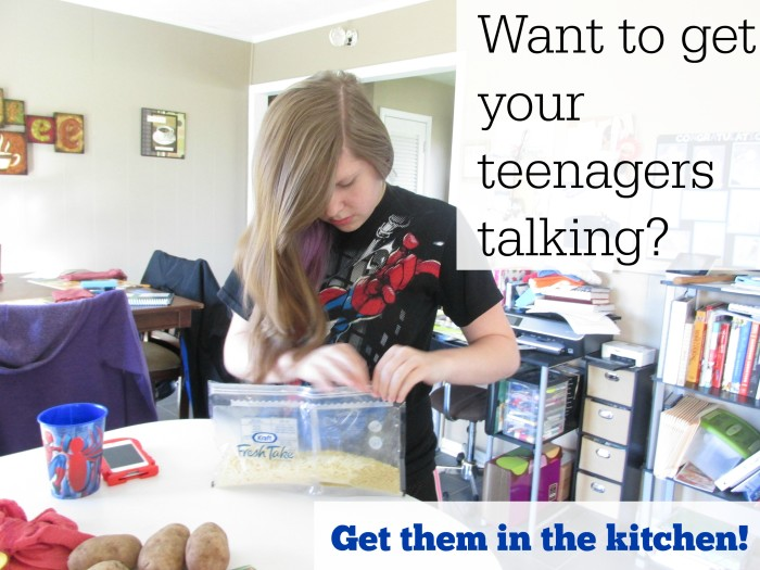 Want to get your teens talking Get them in the kitchen #FreshTake #Shop